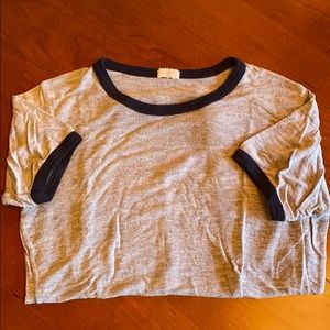 Brandy Melville Gray Comfortable T-Shirt